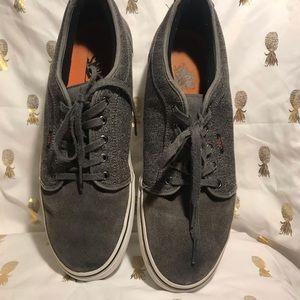 Vans men's shoes.  Gray canvas and suede.